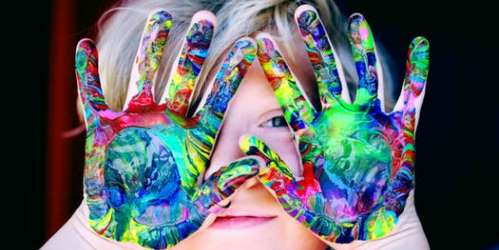 Creative hand painting