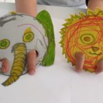 Elephant and Lion Finger Puppets