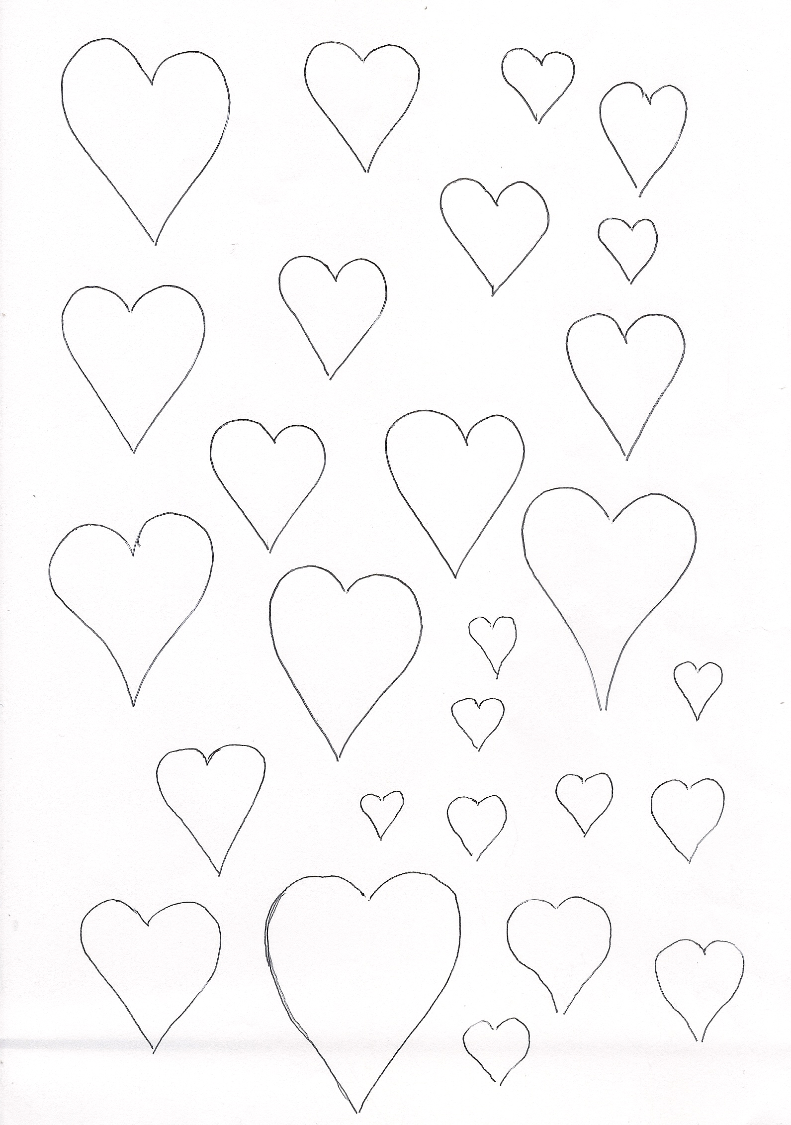 Hearts template
