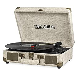 Vintage 3-Speed Bluetooth Portable Suitcase Record Player